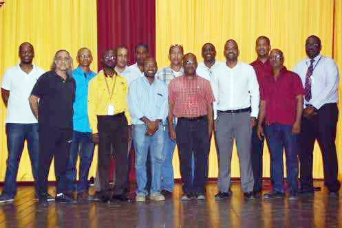 The 2017 leadership team of the Wolmers Old Boys Association